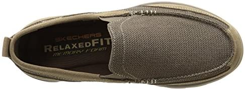 Skechers USA Men's Superior Milford Slip-On Loafer, Light Brown, 9.5 UK