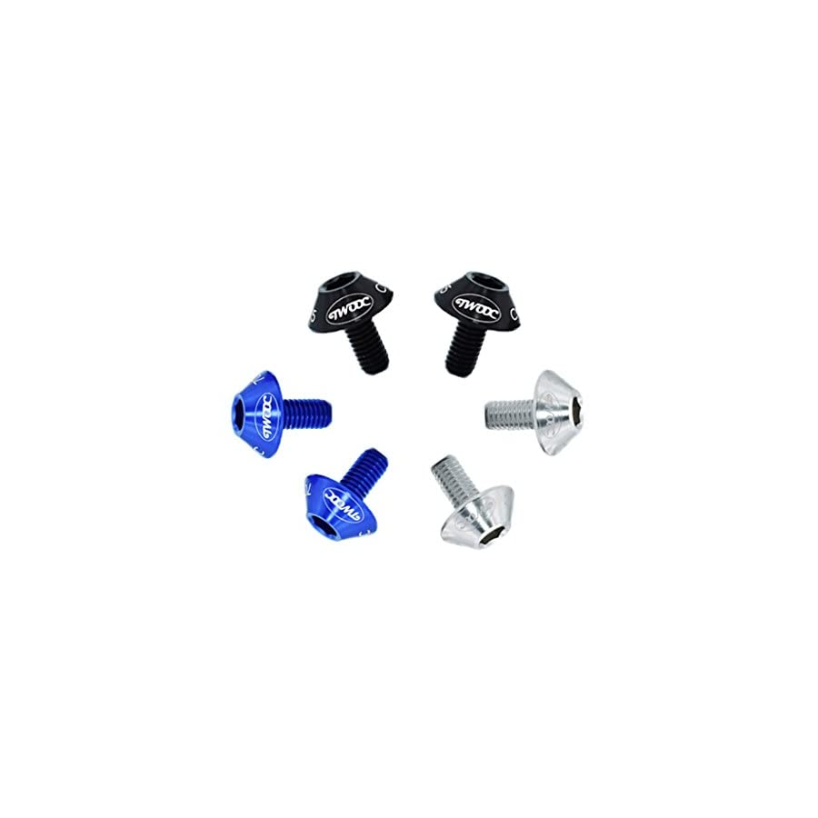 Bike Screws for Kettle Rack Screws,M5x12 Anodized Water Bottle Cage Bolts Screws Inner Hexagon Lightweight Aluminum Alloy Fit for Bike Water Bottle Rack Accessories (6 pcs/Lot)