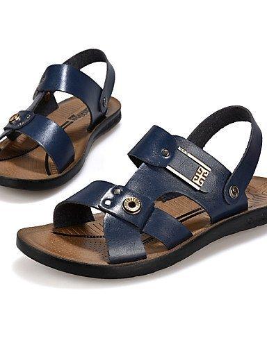 ShangYi Herren Sandaletten Herrenschuhe-Lässig-Sandalen-Kunstleder-Schwarz / Blau / Gelb Blue