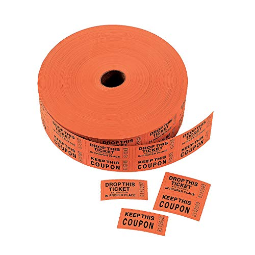 Fun Express - Orange Coupon Double Roll Tickets - Party Supplies - Entertainment - Admission Tickets & Wristbands - 1 Piece]()