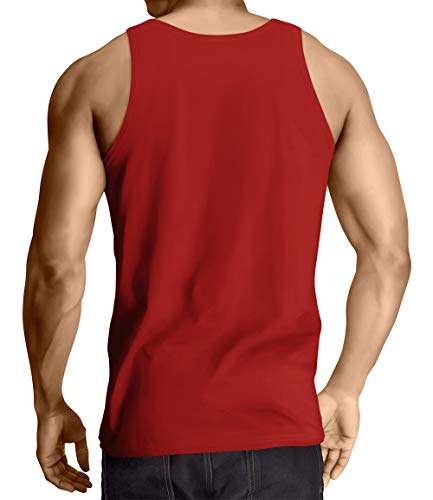 I Got 99 Problems But A Bench Aint One - Gym Men's Tank Top (Red, X-Large)