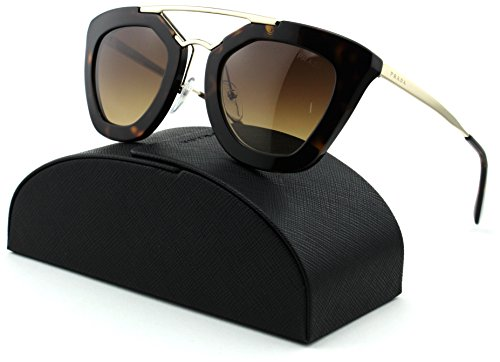 Prada 0PR 09QS Cinema Cateye Women Sunglasses (Havana Frame , Brown Gradient Lens - Prada Sunglasses 09qs
