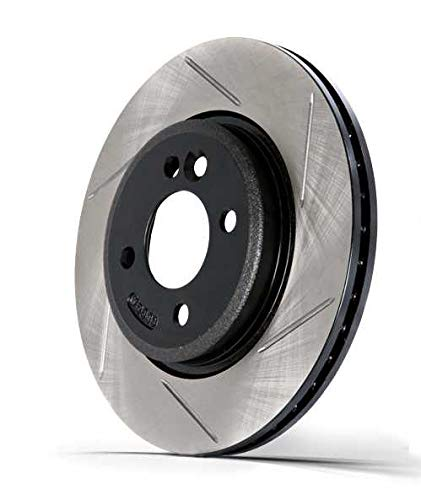 Left StopTech 126.22023SL Sport Slotted Rotor