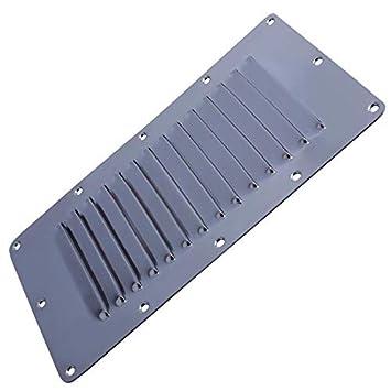 Amazon.com: 2 rejillas de ventilación de acero inoxidable ...