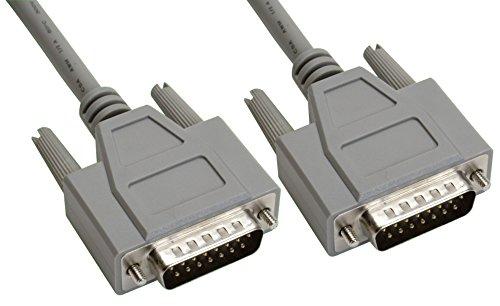Amphenol CS-DSSMDB15MM-010 15-Pin DB15 D-Sub Cable, Shielded, Male/Male, 10', -