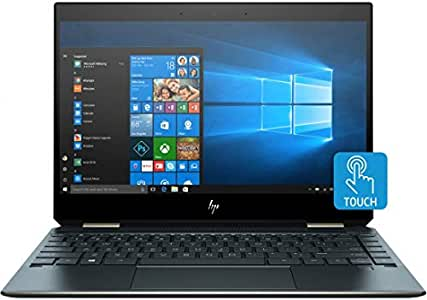 """2019 HP Spectre x360 13-AP0023DX 2-in-1 13.3"""" UHD Touch-Screen Laptop, Intel Core i7, 16GB Memory, 512GB Solid State Drive, Poseidon Blue (Renewed)"""