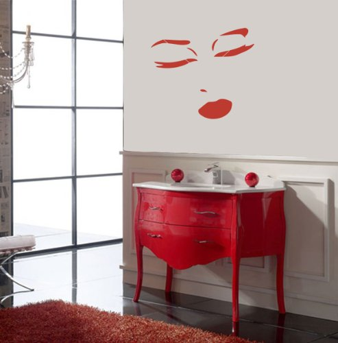 Housewares Vinyl Decal Beautiful Girl Face Home Wall Art Decor Removable Stylish Sticker Mural Unique Design for Beauty Salon