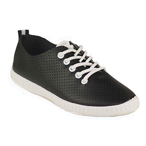 Primtex - Zapatillas de deporte para niña negro