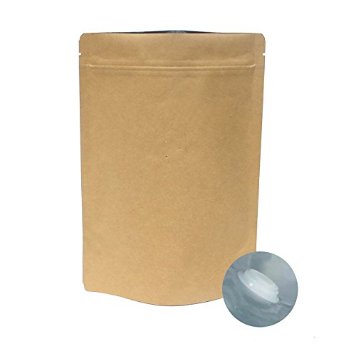 AwePackage 8 oz(1/2 Lb) High Barrier Kraft Paper Stand up Zipper Coffee Pouch Bag with Degassing Valve (25 (Coffee Zipper)