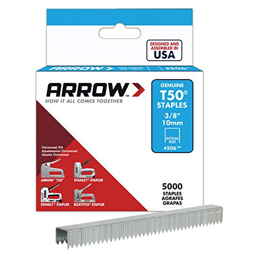 Arrow Fastener 506IP Genuine T50 3/8-Inch Staples, 5,000-Pack (Staples T50 Box Arrow)