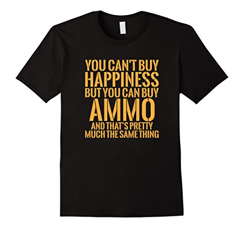 Mens You Cant Buy Happiness But You Can Buy Ammo   10136 2Xl Black