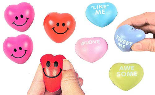 Seasonal Fun Valentine's Day Heart Anti Stress Toys for Kids & Adults – Relieves Anxiety, ADHD, ADD, Autism, & Promotes…
