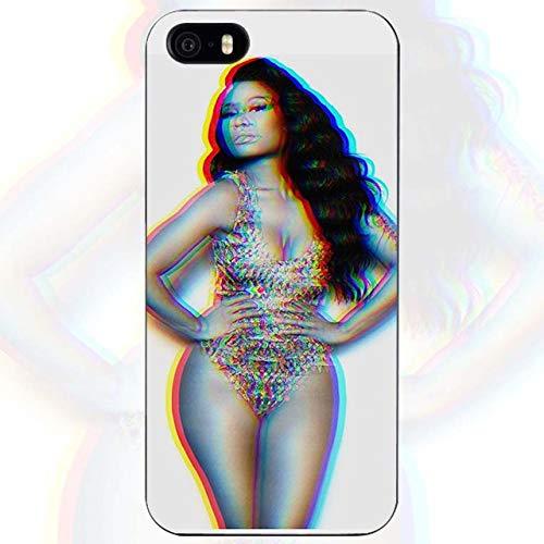 White Nicki Minaj iPhone 5C Case Niki Minaj Cover Young Money Cash Money Hip Hop Rapper Artist Music Barbie Singer Pink Friday Album Model Queen Girls, Hard Plastic