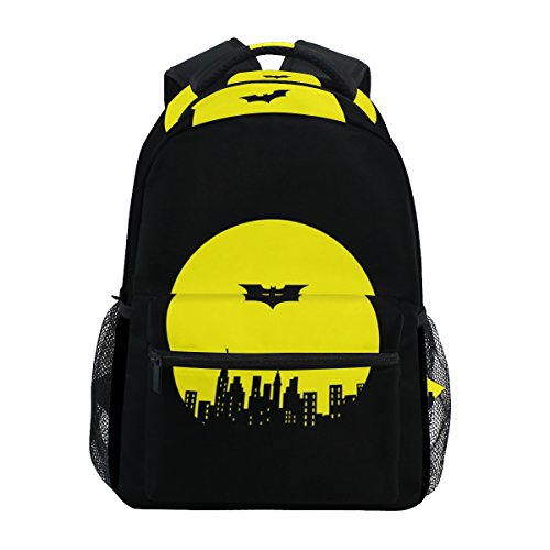 Fashion Laptop Backpack,Black Batman Shoulder Bag for High School/College Student,Travel Bag,14Inch Laptop Sleeve,Perfect for Men and Women
