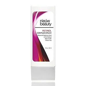 RETINOL COMPLEX CREAM by nieuw beauty. Retinol Moisturizer face Cream for Women and Men. With 2.5% Active Retinol, Hyaluronic Acid, Vitamin E. For All Skin Types. 2oz/60ml