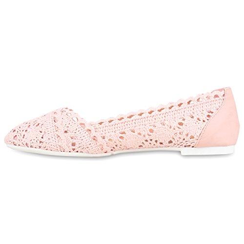 Stiefelparadies Bequeme Damen Flats Klassische Ballerinas