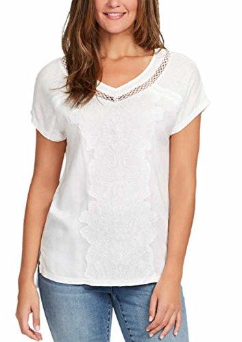 Gloria Vanderbilt Ladies' Embroidered Top (Crystal White, XX-Large) (Gloria Vanderbilt Sport)
