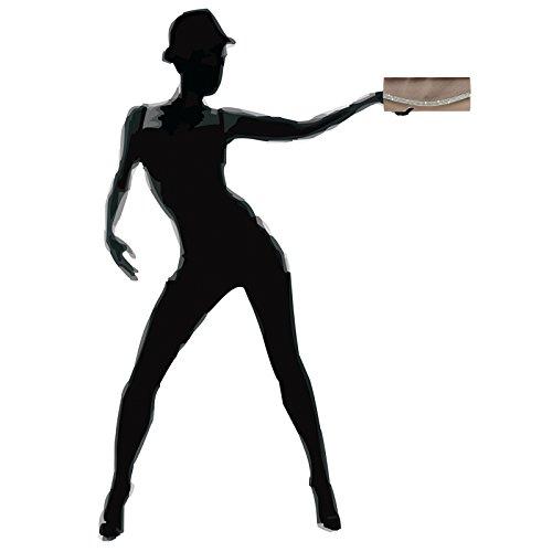 CASPAR Fashion - Cartera de mano con asa para mujer bronce