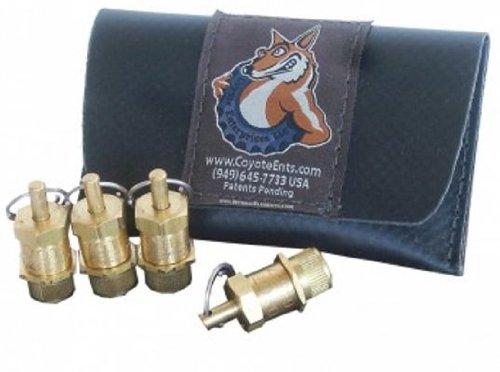 BILLET4X4 U.S. Made Coyote Tire Deflators (3-50 PSI) with Heavy-Duty Flex-Hose tire-Pressure Gauge (4X4 Off-Road Vehicles)