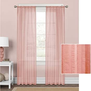 Amazon Com Mainstays Marjorie Sheer Voile Curtain Panel