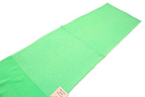 帯揚げ 薄緑 ライムグリーン ラメ糸 正絹 丹後ちりめん ふくれ織