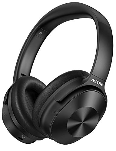 Mpow Hybrid Active Noise Cancelling Headphones, Bluetooth Headphones Over Ear [2019 Version] with Hi-Fi Deep Bass, CVC 6.0 Microphone, Soft Protein Earpads, Wireless Headphones for TV Travel Work (Best Hifi Bluetooth Headphones)