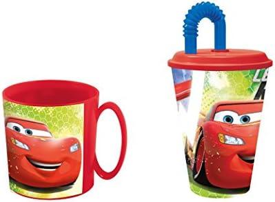 disney cars, Taza apta para microondas y vaso.: Amazon.es: Hogar