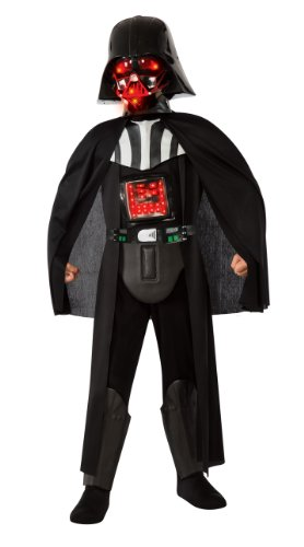 [Boy's Deluxe Light-Up Darth Vader Costume L] (Young Anakin Costume)