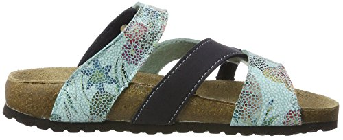 Softwaves 274 539 - Mules Mujer Blau (DK BLUE/TURQUOISE)