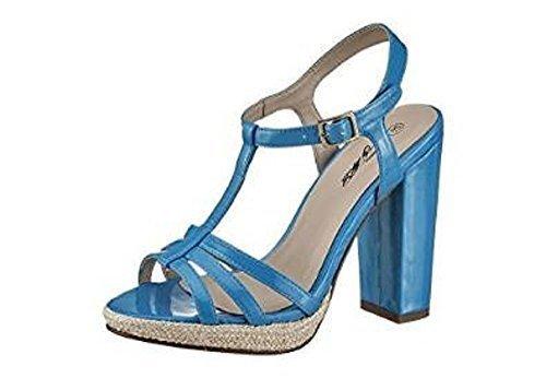 Perrotta sandalia de tacón alto de City Walk Azul