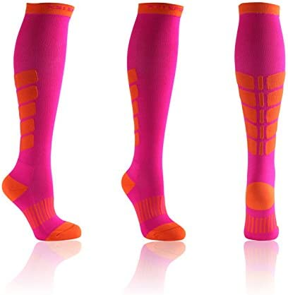 X31 Sports Knee High Compression Socks 15-20 mmHg Soft Padded