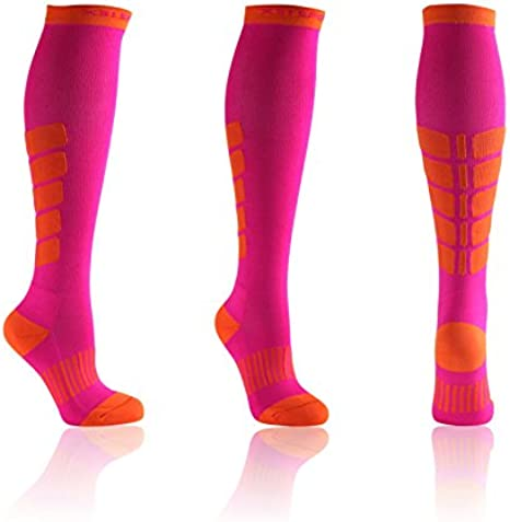 Calze Uomo Oxyburn Running Track Knee High Performance Compression