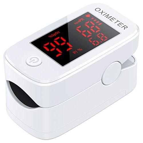 chollos oferta descuentos barato MeaMae Care Oxímetro de pulso Oxímetro de dedo para medir la saturación de oxígeno en la sangre frecuencia del pulso y PI pulsioximetro de dedo profesional con pantalla LED
