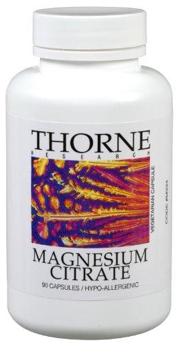 Thorne Research citrate de magnésium, 90 capsules végétariennes