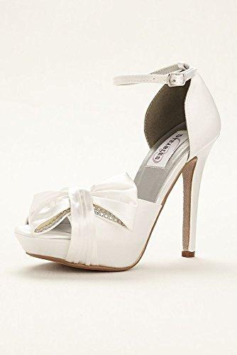 Davids Jay Style Peep Platform Jay Apple Pump Bridal Dyeable Toe grHqng50