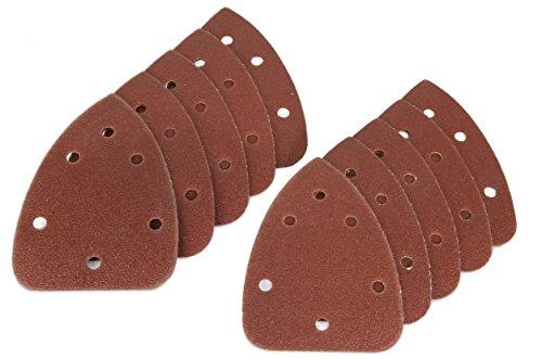 WEN 6301SP240 Detailing Palm Sander 240-Grit Hook & Loop Sandpaper (10 Pack)