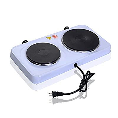 Burner cooking electric double indicator heater countertop for fast efficient hot plate light powerful 2500 watts portable stove cooking power