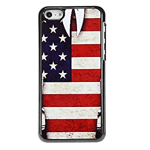 QYF The Stars and the Stripes Pattern Aluminous Hard Case for iPhone 5C