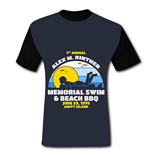 - BOLIHENG The Alex M. Kintner Memorial Swim Men's Short Sleeve Moisture Absorbing Sports T-Shirt Black