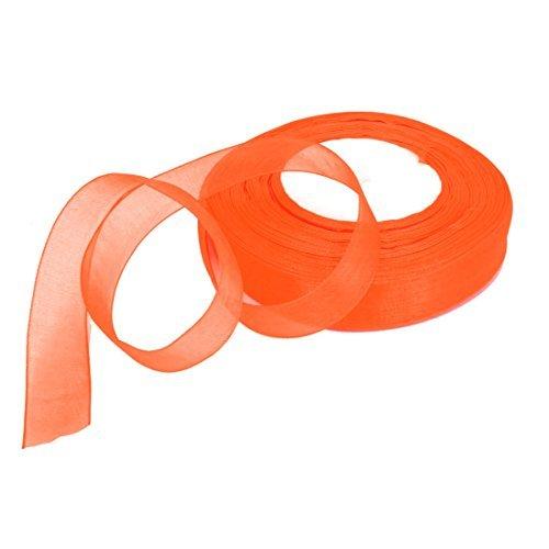 eDealMax Scrapbooking Double face Satin Rouleau de Ruban DE 20 mm x 50 Yards Orange