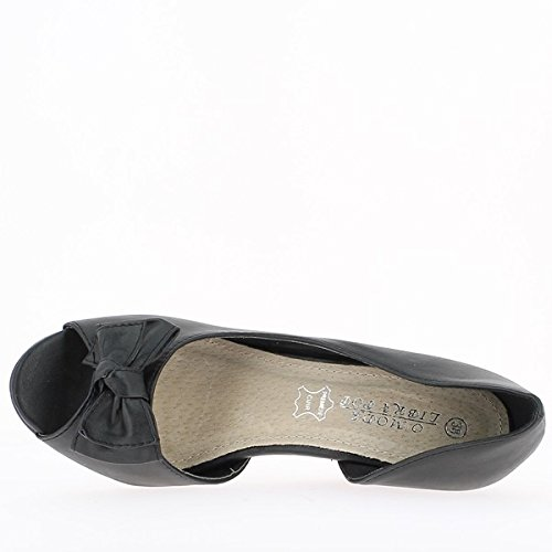 Frau Schuhe schwarz 8cm Absatz