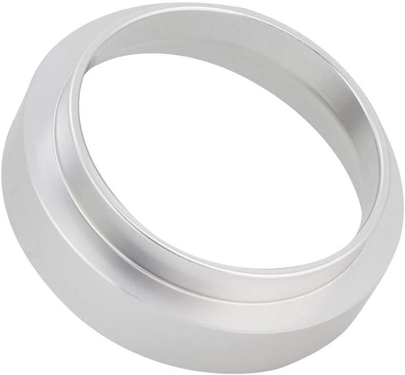 accesorio de cafetera de repuesto de embudo de anillo de dosificaci/ón de caf/é universal de aluminio de 58 mm negro Anillo de dosificaci/ón