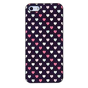 Piaopiao Small Colorful Hearts Pattern Aluminous Hard Case for iPhone 5/5S