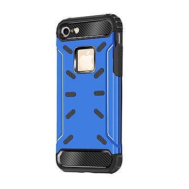 Fundas y estuches para teléfonos móviles, Caso para el iphone 7 7 más la caja de la PC de la cubierta de la caja material divide la caja del teléfono de la armadura de la anti-gota ( Color : Azul , Mo Oro