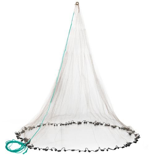 (Betts 6PM Old Salt Mono Cast Net, 6-Feet, 3/8-Inch Mesh, 1-Pound Lead per Ft, Boxed)
