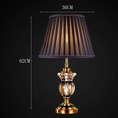 Lamp Stt - STTS Household Bedside Table Lamp, Decoration Desk Lamp, Studentye Protection Table Lamp, Simple Classical Luxury Villa Crystal Table Lamp Bedroom Living Room Decorated Table Lamp, Home Upscale Tabl