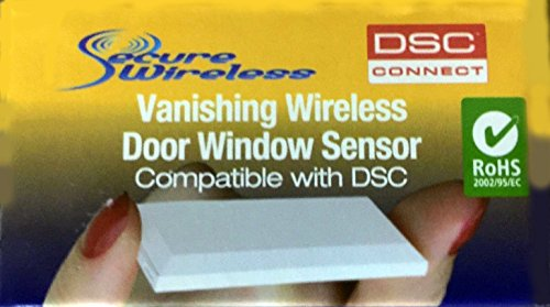Tyco WIRELESS VANISHING DOOR/WINDOW CONTACT 5/8 MAGNET GAP EV-DW4975 (Contact Door Wireless Dsc)