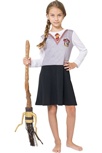 Harry Potter Big Girls' Hermoine Gryffindor Uniform Night Gown by Intimo, Gray 16 ()