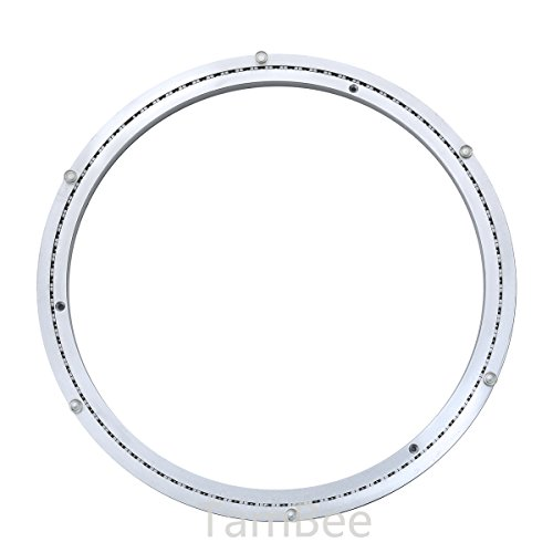 TamBee Heavy-Duty Mute 20 Inch Aluminum Lazy Susan Bearing Turntable Ring Swivel Plate Hardware for Heavy -