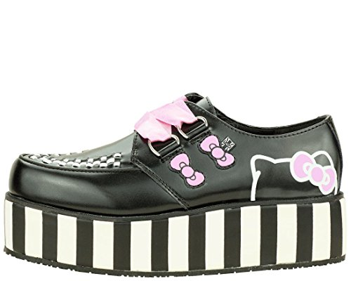 T.U.K. Shoes Women's A8887 Black Leather Creeper 7 (Hipster Hello Kitty Costume)